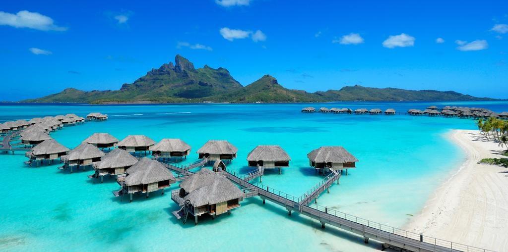 Wasserbungalows Fours Season Resort Französisch Polynesien