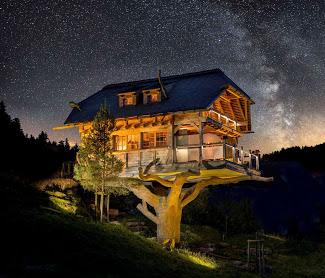 Baumhaussanuna nachts